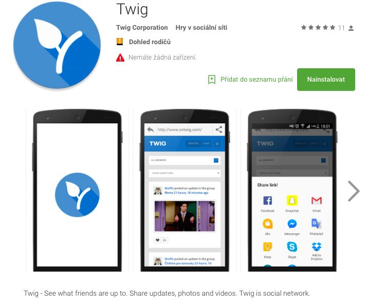 Twig, nová sociální síť